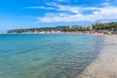 Plage Du Ponteil, Antibes, Cote d ` Azur, Francja Obrazy Stock