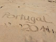 Plage du Portugal Photographie stock
