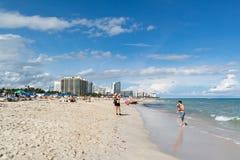 Plage du sud de Miami, la Floride Images libres de droits