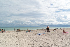 Plage du sud de Miami, la Floride Photographie stock