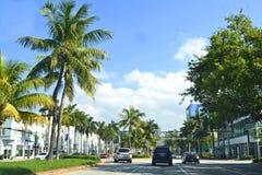 Plage du sud de vue de rue, Miami Photographie stock