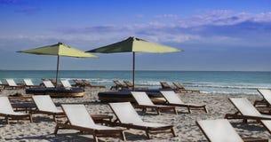 Plage du sud, Miami Images libres de droits