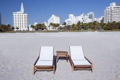 Plage du sud Miami   Image libre de droits