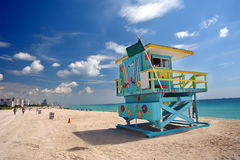 Plage du sud Miami images stock