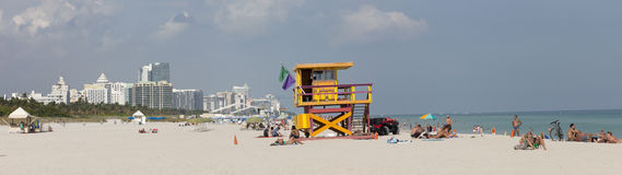 Plage du sud, Miami Beach la Floride Photos stock