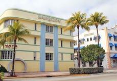 Plage du sud Miami d'art déco Photo libre de droits