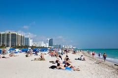 Plage du sud Miami la Floride Images libres de droits