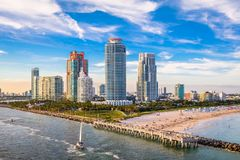 Plage du sud, Miami, la Floride, Etats-Unis image libre de droits