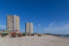 Plage du sud sur Fehmarn, Allemagne photo stock