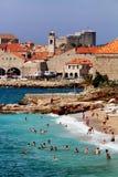 Plage Dubrovnik Croatie de Banje Photos stock