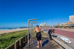 Plage Durban de douches de surfers  Photographie stock libre de droits