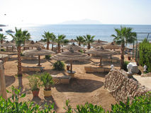 plage Egypte Plage de station de vacances Photo stock