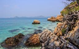 Plage en île Image libre de droits