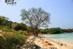 Plage en île Photographie stock libre de droits