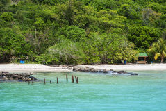 Plage en île de Culebra Photos stock