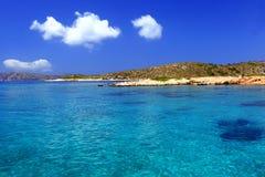 Plage en île de Grec de Leipsoi Photos stock