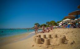 Plage en île de Thassos, Grèce Images libres de droits