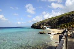 Plage en île du Curaçao, mer des Caraïbes images libres de droits