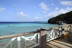 Plage en île du Curaçao, mer des Caraïbes images stock