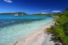 Plage en Îles Vierges britanniques Images libres de droits