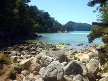 Plage en Abel Tasman National Park, Nouvelle-Zélande Image libre de droits