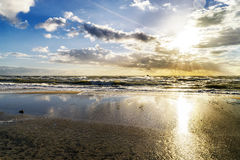Plage en Allemagne à la mer baltique Photographie stock