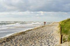 Plage en Allemagne à la mer baltique Photos libres de droits