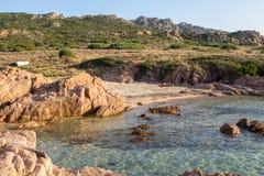 Plage en Costa Paradiso, Sardaigne, Italie Images stock