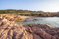 Plage en Costa Paradiso, Sardaigne, Italie Photographie stock