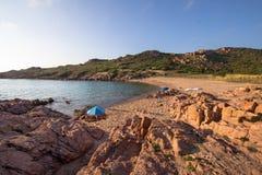 Plage en Costa Paradiso, Sardaigne, Italie Images libres de droits