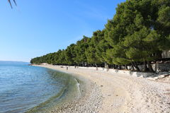 Plage en Croatie Photos stock
