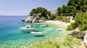 Plage en Dalmatie, Croatie Images libres de droits