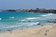 Plage en EL Cotillo, Fuerteventura Photos libres de droits