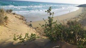 Plage en hiver à Fuerteventura image stock