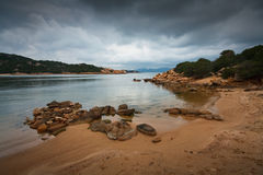 Plage en Sardaigne, Italie Photo stock