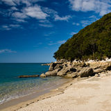 Plage en stationnement national d'Abel Tasman Photographie stock