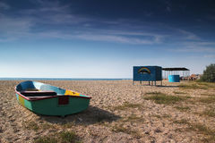 Plage en Ukraine Photographie stock