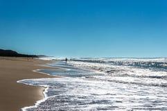 Plage ensoleillée d'océan Photo stock