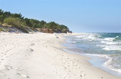 Plage et dunes blanches Photos stock