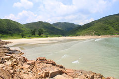 Plage et horizontal de côte à Hong Kong Photo libre de droits