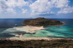 Plage et lagune de Balos photo libre de droits