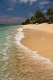 Plage et mer de paradis sur l'île, îles de Gili Photographie stock libre de droits