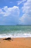 Plage et mer de sable Photographie stock