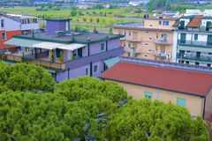 Plage et station de vacances en Lido di Esolo, Italie Photo libre de droits