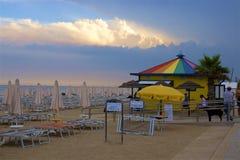 Plage et station de vacances en Lido di Esolo, Italie Photographie stock libre de droits