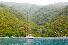 Plage et station de vacances tropicale, île de Labadee, Haïti Photographie stock libre de droits
