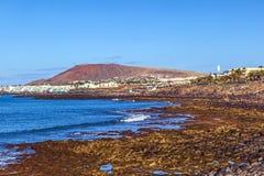 Plage et village de Blanca de Playa Photo stock