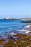 Plage et village de Blanca de Playa Images libres de droits
