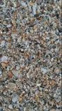 Plage faite de coquilles au lieu du sable image stock