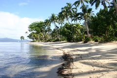 Plage Fiji de ressource de Qamea photos stock